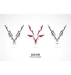 image an deer design vector image