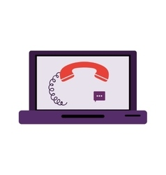 Isolated phone and laptop design vector