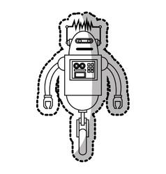 Isolated robot cartoon design vector