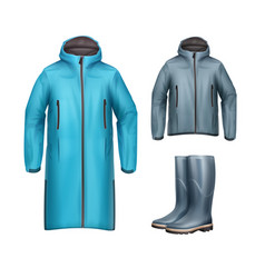 Jackets with rubber boots vector