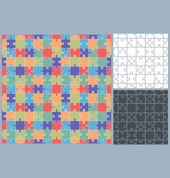 Jigsaw puzzle pattern vector
