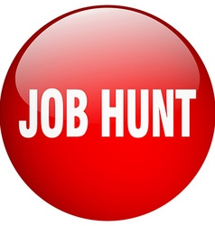 Job hunt red round gel isolated push button vector