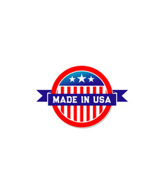 made in usa american flag ribbon icon vector image
