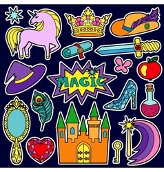 Magic Patch Set vector image