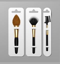 makeup brush packaging design artist icon vector image
