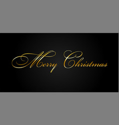 merry christmas gold text decoration bright vector image