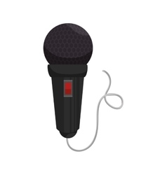 microphone with cord vector image
