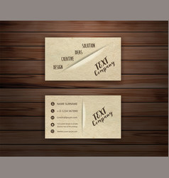 minimal corporate business card vector image