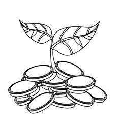 Money sowing symbol vector