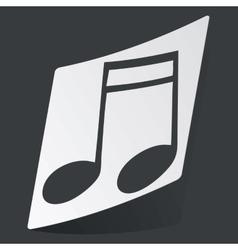 Monochrome 16th note sticker vector