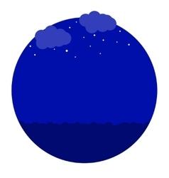Night in the sea icon vector
