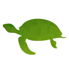 ocean green turtle icon vector image