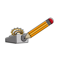 pencil and eraser design vector image