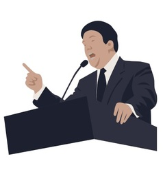 politician and speaker vector image