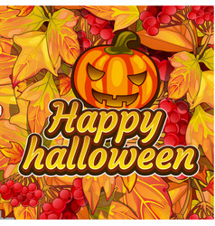 Poster on theme of halloween holiday party cute vector