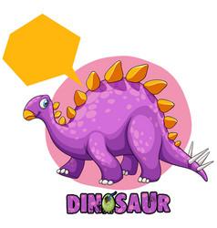 Purple stegosaurus on white background vector