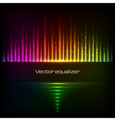 Rainbow colors equalizer vector image