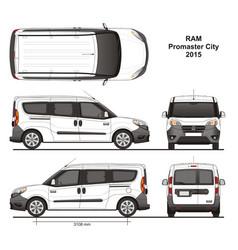 Ram promaster city passenger van 2015 vector