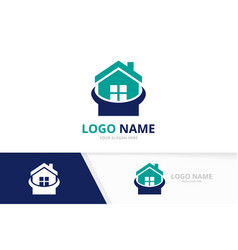 real estate logo combination house logotype vector image