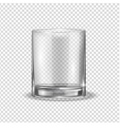 realistic glassfull transparent shiny glass on a vector image