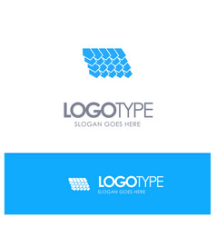 Rotile top construction blue solid logo with vector