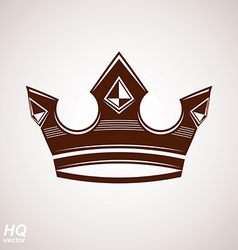 Royal design element regal icon majestic crown vector