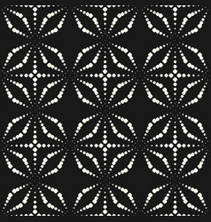 seamless pattern with dotted shapes sparkles vector image