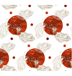 Seamless tropical vintage flower pattern on vector