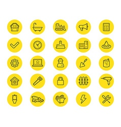 Set of Construction Building Icons Home and Repair vector image