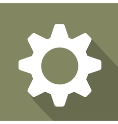 Settings web icon flat design vector image