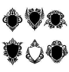 Shield Swirl Ornamental vector image