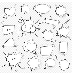 speech bubbles thinking and speaking clouds with vector image