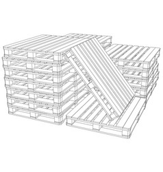 stack of pallets vector image