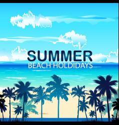 Summer beach holidays image vector