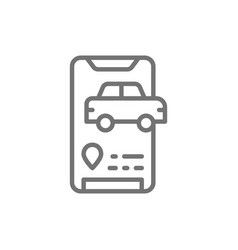 taxi arrival message taxi service application vector image