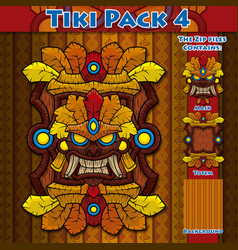 Tiki pack 4 vector