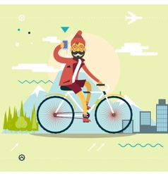 Travel lifestyle concept planning a summer vector