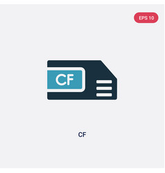 Two color cf icon from user interface concept vector
