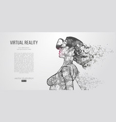 Vr headset holographic virtual reality glasses vector