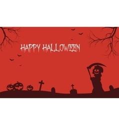 Warlock and pumpkins Halloween backgrounds vector