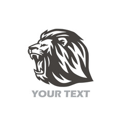 Wild lion head logo design vector