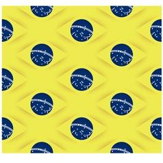 3D Seamless Brazil flag pattern vector image vector image