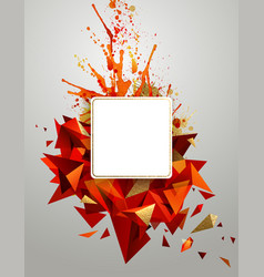geometric abstract banner with bright red color vector image vector image