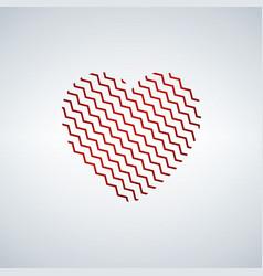 heart shaped zigzag happy valentine s day vector image