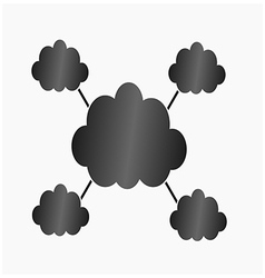 Infographic black clouds vector image vector image