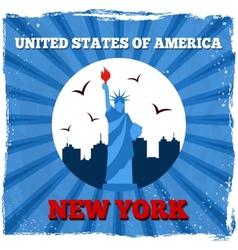 New York USA retro poster vector image vector image
