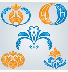 bright floral design elements vector image vector image