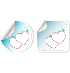 sticker love hearts vector image