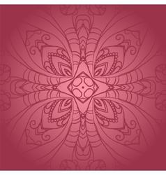 Vegetable dark pink flower ornament vector image