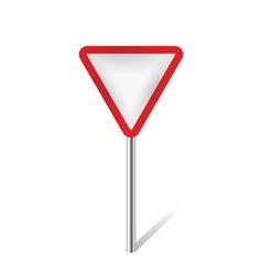 warning traffic sign vector image vector image